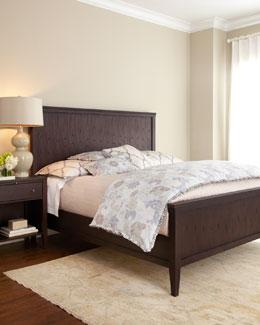 Karington Espresso King Panel Bed