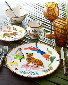 "Lynn Chase Designs 16-Piece ""Jungle Jubilee"" Dinnerware Service"