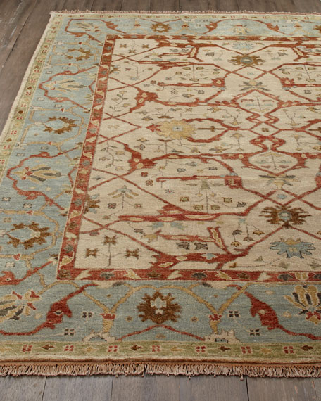 Dulin Blue Oushak Rug & Matching Items