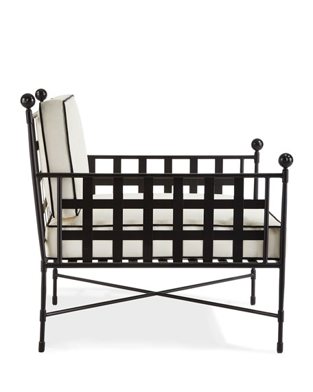 Avery Neoclassical Outdoor Lounge Chair