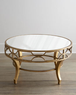 """Lena"" Mirrored-Top Coffee Table"