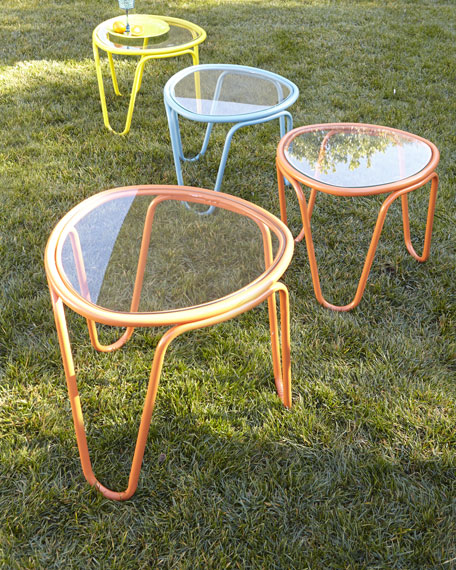 "Two ""Scoop"" Side Tables"