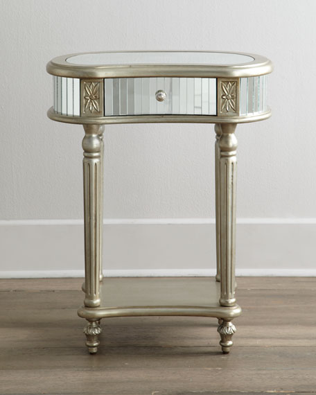 MELROSE MIRRORED SIDE TABLE Neiman Marcus