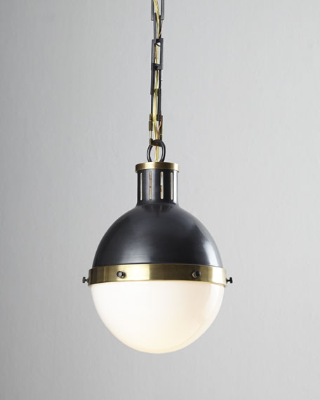 Thomas O'Brien Hicks 2-Light Large Bronze with Antiqued Brass Pendant
