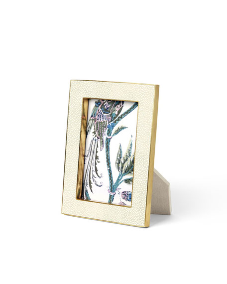 "Cream Shagreen 4"" x 6"" Frame"