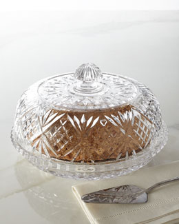 "Godinger ""Dublin"" Crystal Pie Dome"