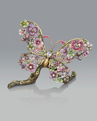 Jay Strongwater Floral Butterfly Figurine