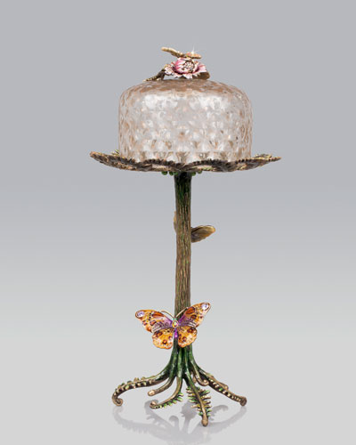 "Jay Strongwater ""Butterfly & Fern"" Sweet Server"