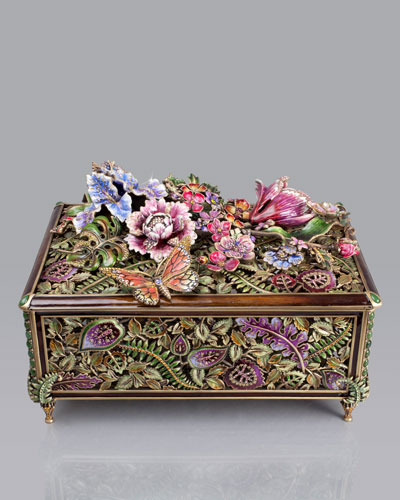 Jay Strongwater Grand Floral Chest