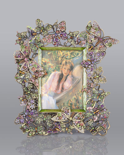 "Floral Butterfly 5"" x 7"" Frame"