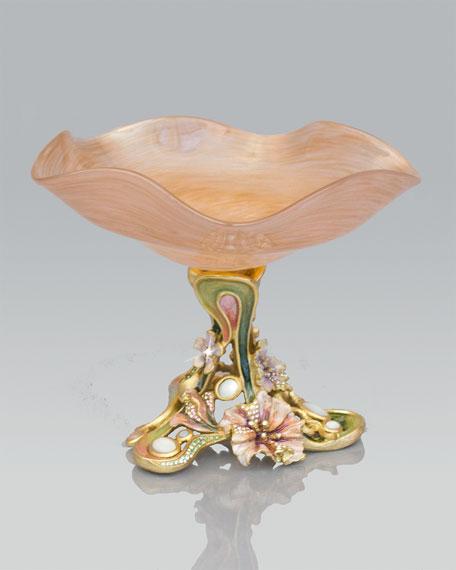 """Josee"" Floral Pedestal Dish"