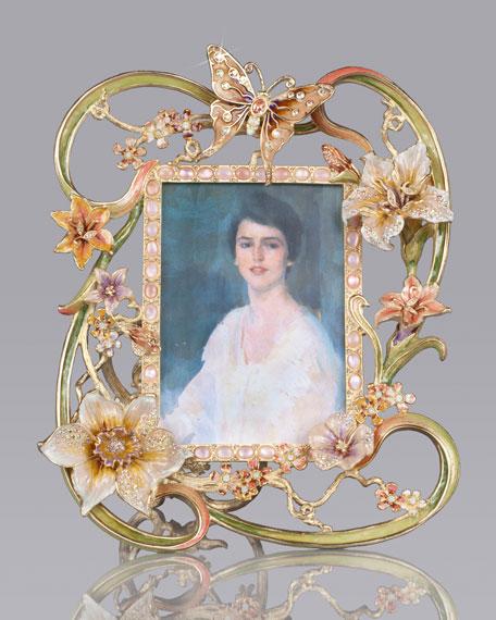 "Madeleine Floral/Cabochon 5"" x 7"" Frame"