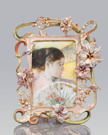"""Cecile Floral & Scroll 4"""" x 6"""" Frame"""