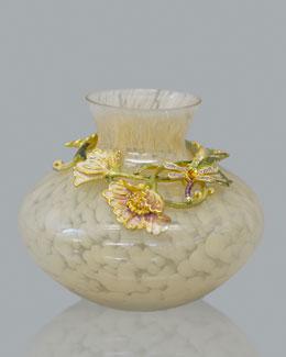 Jay Strongwater Florina Floral Vine Vase