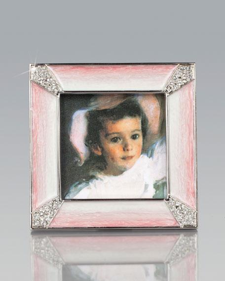 Leland Pink Pave Corner Square Picture Frame