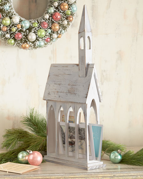 Church Christmas Card Holder