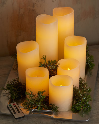 Park Hill Collections Three LED Candles with Remotes