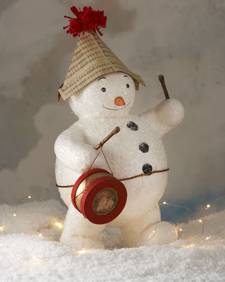 Snowman Figure with Instruments