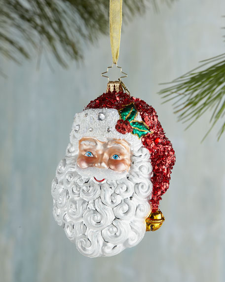 With a Smile and a Wink Santa Christmas Ornament