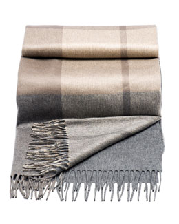 Brunello Cucinelli Plaid-Print Cashmere Throw