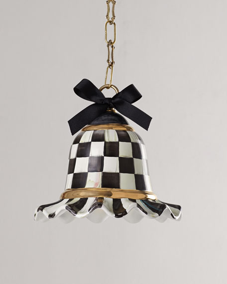 MacKenzie-Childs Small Courtly Check 1-Light Pendant