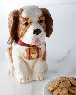 NM EXCLUSIVE St. Bernard Cookie Jar
