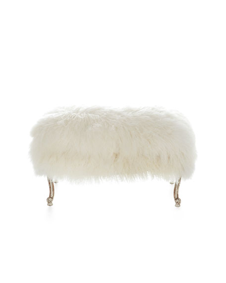Worthen Sheepskin Ottoman
