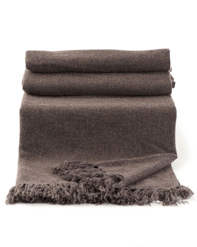 Brunello Cucinelli Cashmere Blanket with Fringe Detail