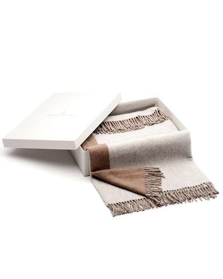 Bicolor Cashmere Blanket