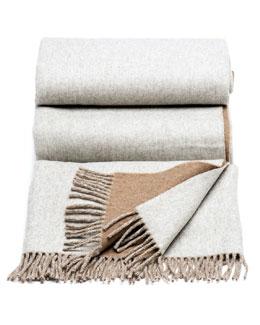 Brunello Cucinelli Bicolor Cashmere Blanket