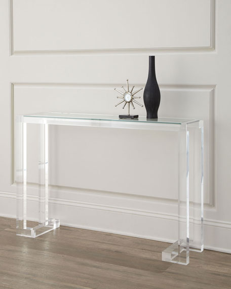 interlude home clearview console neiman marcus. Black Bedroom Furniture Sets. Home Design Ideas