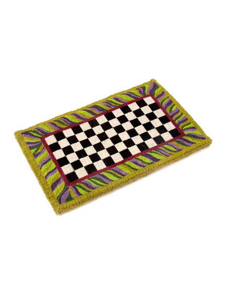 MacKenzie-Childs Courtly Check Entrance Doormat