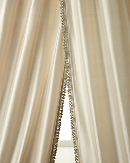 "Each 108""L Crystal Palace Imperial Silk Curtain"