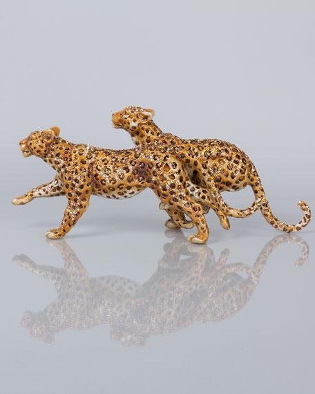 Running Leopards Figurine