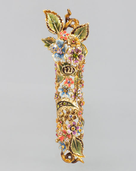 Jay Strongwater Floral and Vine Mezuzah