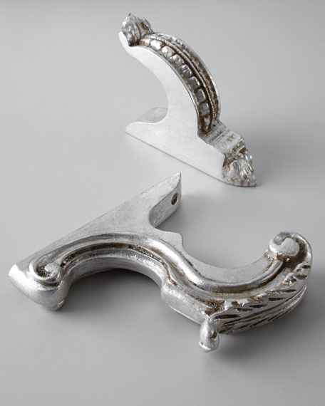 "Two Silver-Leaf-Finished ""Italian Renaissance"" Finials"