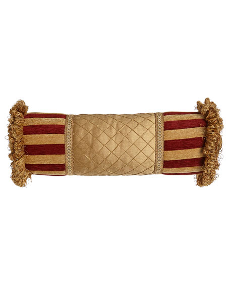 """Austin Horn Collection Bellissimo Neck Roll Pillow, 6"""" x 20"""""""