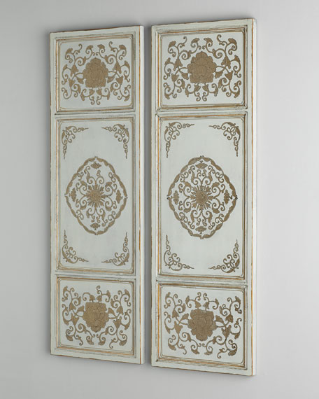 Gold and Cream Wall Panels