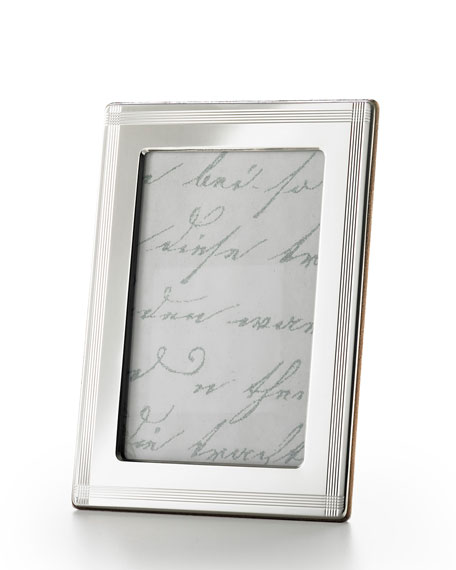 "Cross Hatch Stripe 4"" x 6"" Picture Frame"