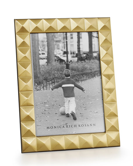 "Brass Pyramid 4"" x 6"" Picture Frame"