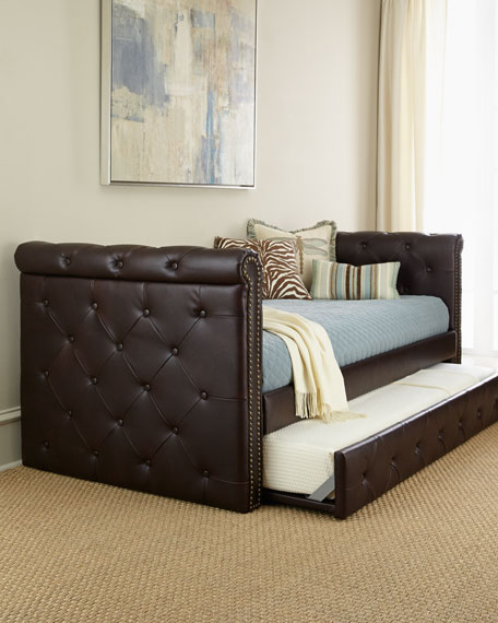 Raven Tufted Leather Daybed