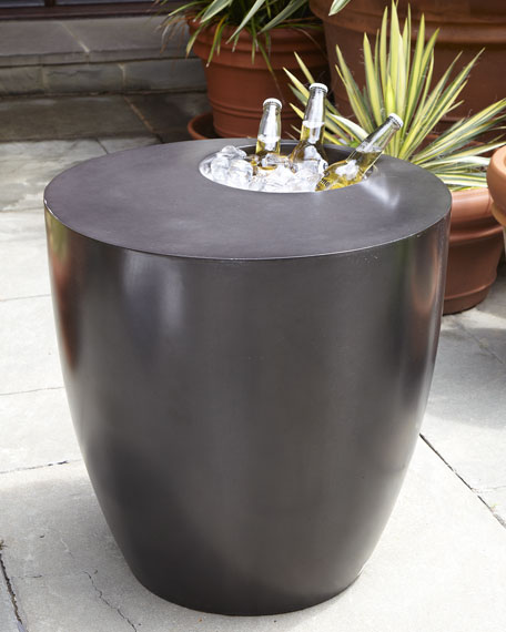 Image 1 of 2: The Phillips Collection Beverage Cooler Side Table