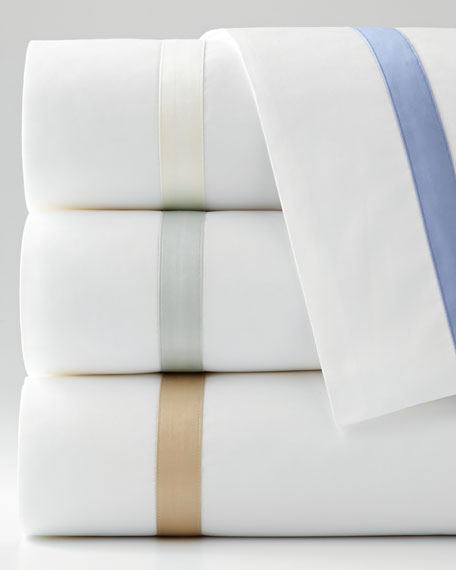 Matouk King 600 Thread Count Lowell Flat Sheet