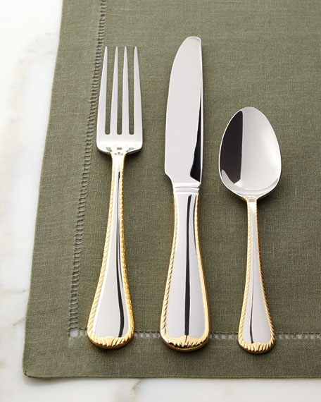 45-Piece Cameo Gold Flatware Service