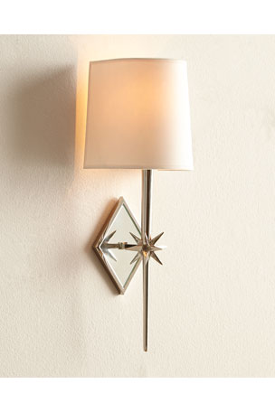 Visual Comfort Etoile Polished-Nickel Sconce