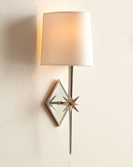 Etoile Polished-Nickel Sconce