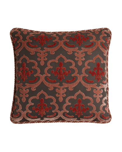 Austin Horn Collection Bathshira Damask Pillow