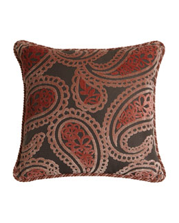 Austin Horn Collection Bathshira Paisley Pillow
