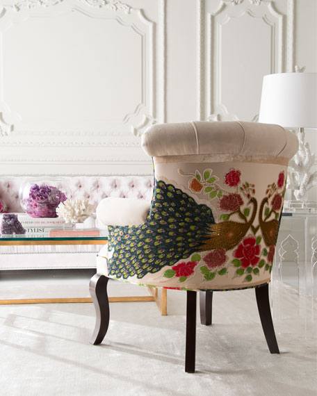 Image 2 of 4: Haute House Cream Peacock Chair