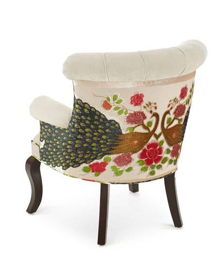 Image 3 of 4: Haute House Cream Peacock Chair